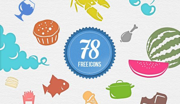 free-food-icons-psd