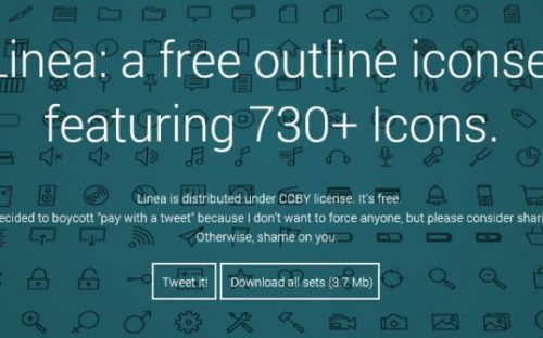 14 Free Line Icon sets and Icon fonts for apps and websites