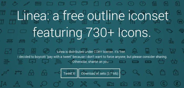 free line icon set icon font