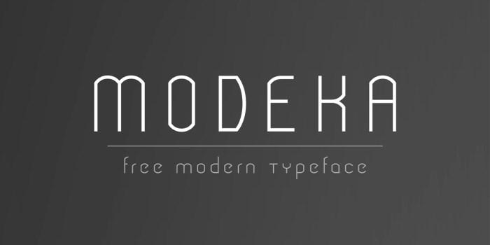 modeka-free-modern-thin-typeface
