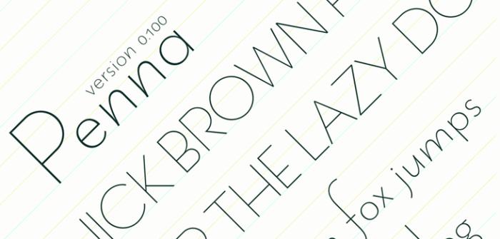 penna-public-domain-thin-font