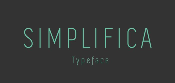 simplifica-thin-typeface