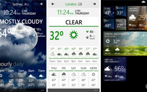 Top Weather Apps on Windows Phone for Design Inspiration