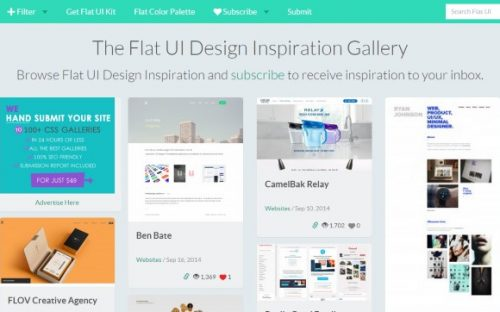 10 places to find Flat UI Design Inspiration