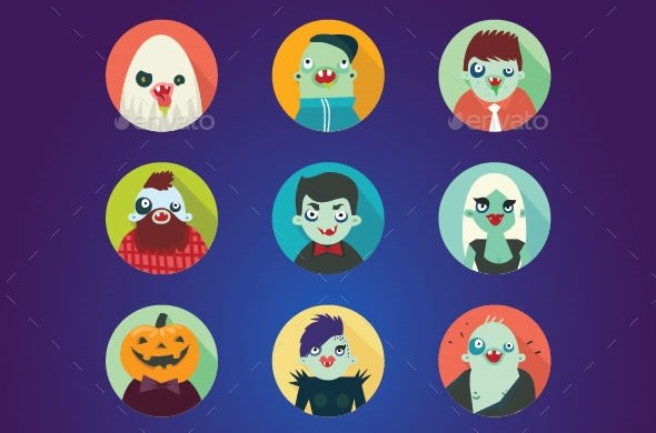 1-hipster-halloween-avatar-flat-icons