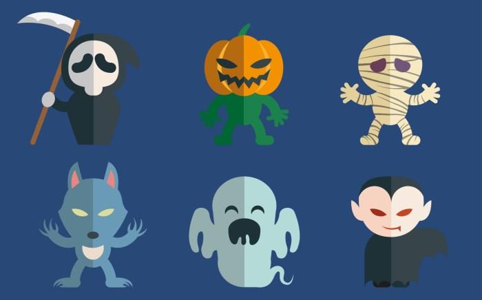 2-halloween-character-set