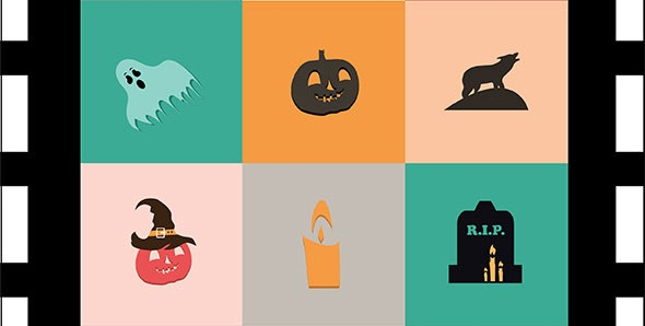 4-halloween-flat-icons