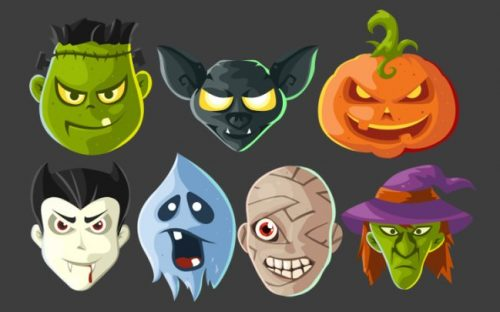 21 Halloween Icon sets – Free and Premium
