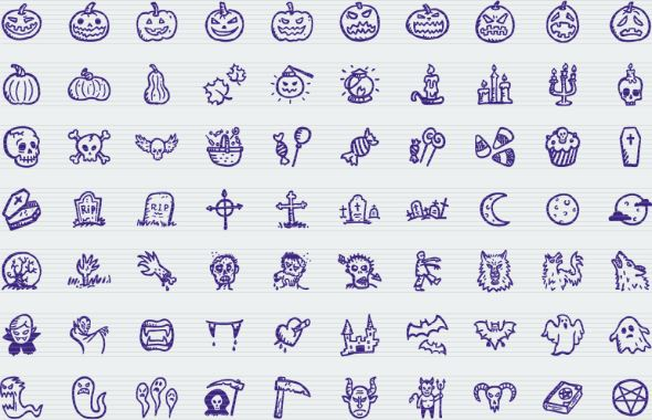8-hand-drawn-spooky-halloween-icons
