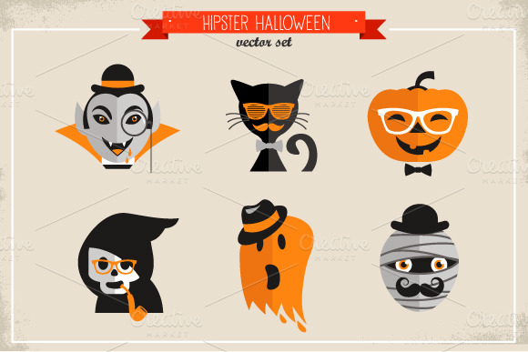 9-hipster-halloween-icon-set