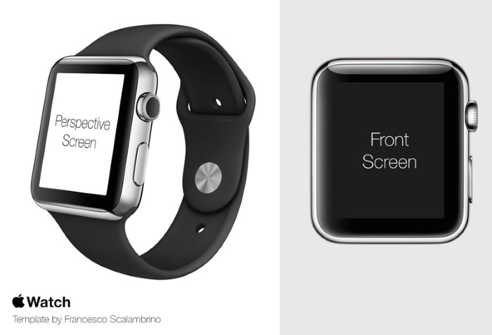 apple watch mockup templates
