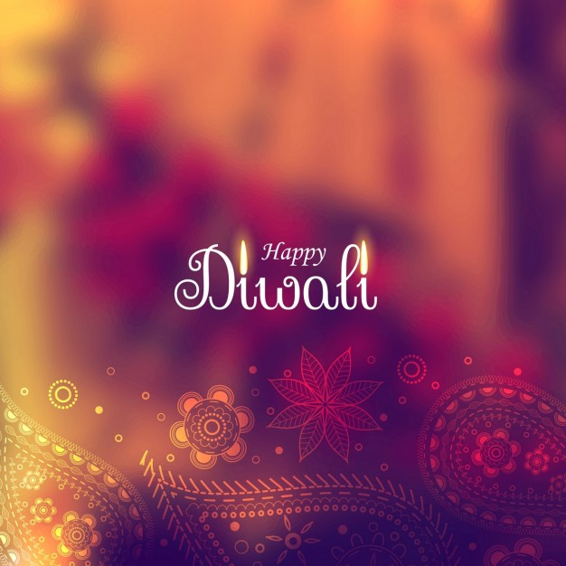 Diwali Background Vector with Paisley elements