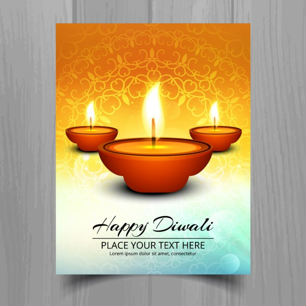 Decorative Diwali Greeting Card Vector Template