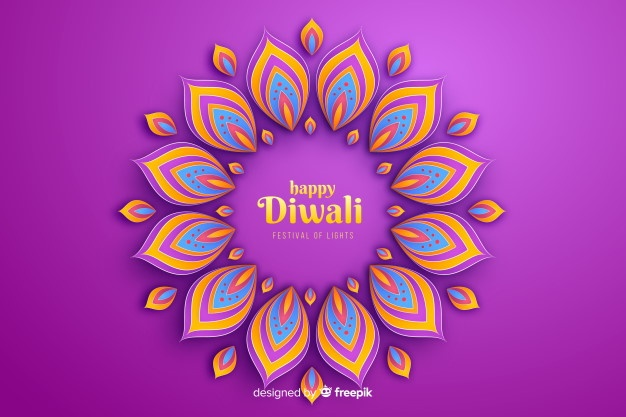 diwali festive ornaments celebration background