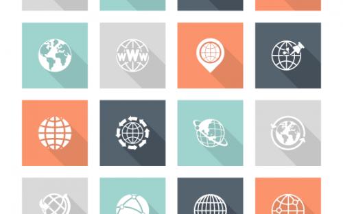 36 Free Flat Globe Icons – PSD, AI & EPS