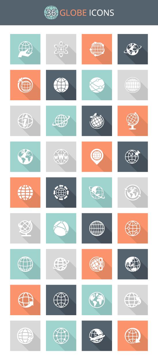 free globe icon set