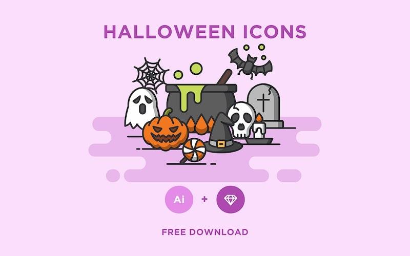 halloween icons ai aketch