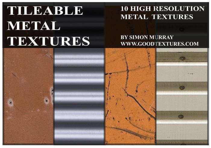 10 tileable metal textures