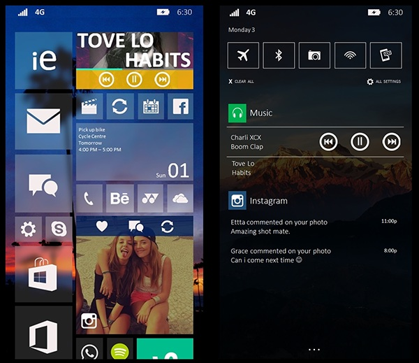 windows phone 10 design cocept 3
