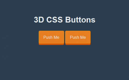 How to create a 3D CSS Button