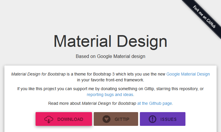 7 Material Design Web Ui Frameworks Custom Website