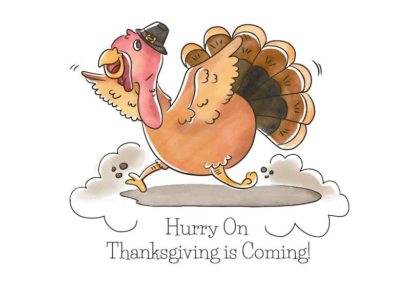 Turkey with Thanksgiving Hat free vector
