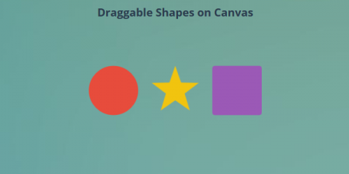 draggable shapes on canvas
