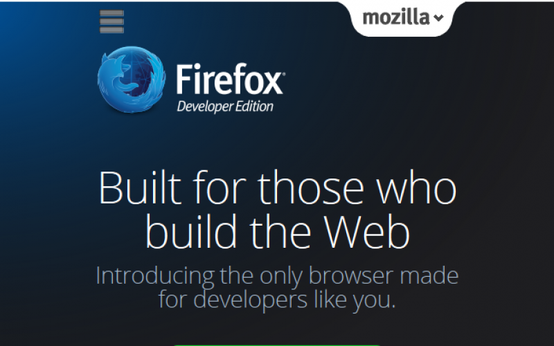 Firefox launches Developer Edition Browser for Web Developers
