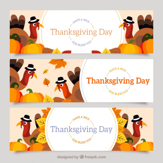 flat-thanksgiving-banners