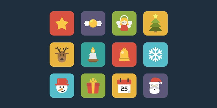 flat-vector-christmas-icons-free