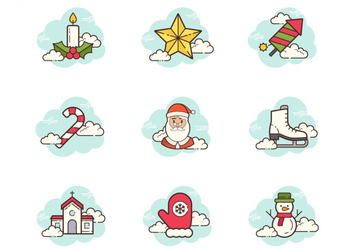 free christmas svg icons