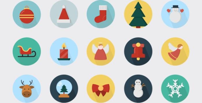free-flat-christmas-icons