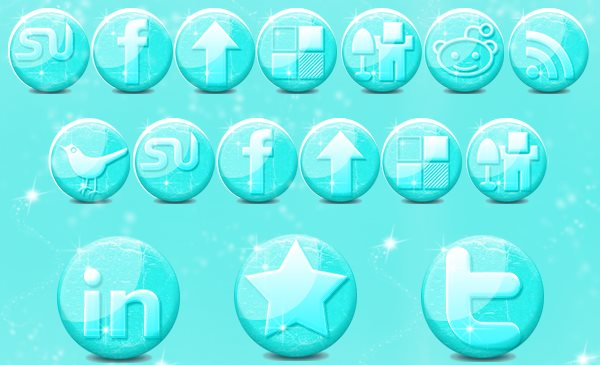 free-glossy-ice-social-media-icons-winter-season