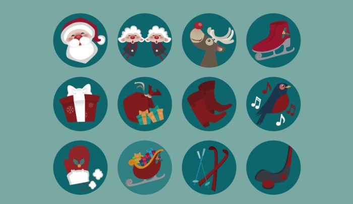 free-round-christmas-icon set-freepik