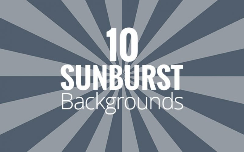 10 Free Sunburst Backgrounds