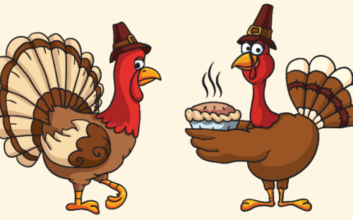 30+ Thanksgiving Vector Graphics and Greeting Templates