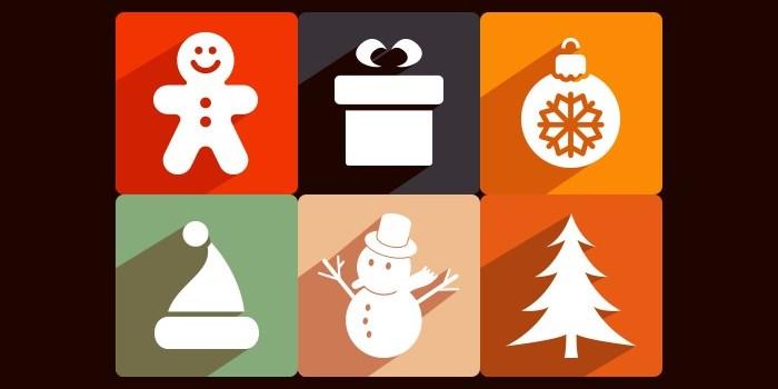 long-shadow-christmas-icons