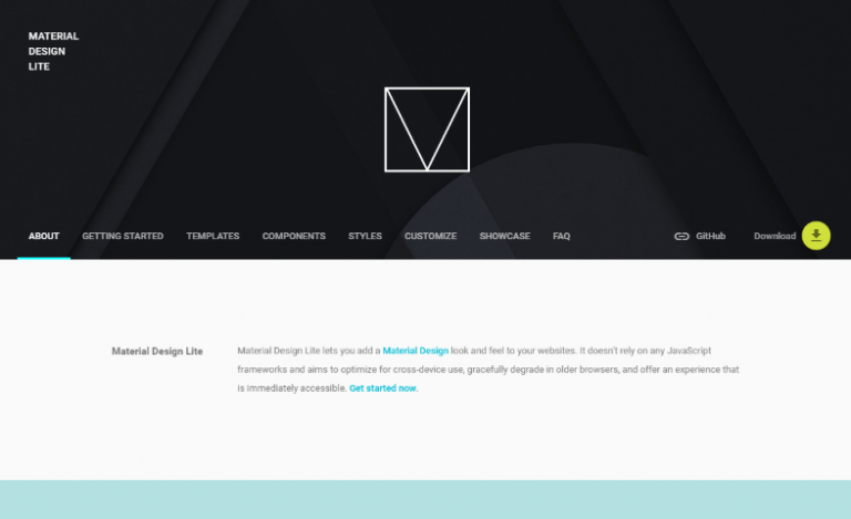 material design light framework