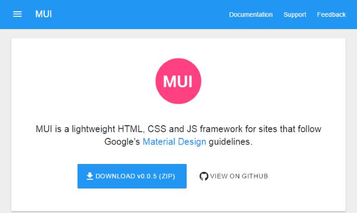 mui-material-design-css-framework