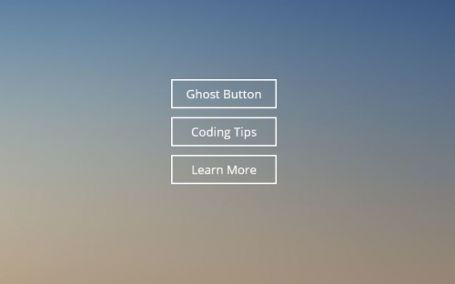 Super simple Ghost Button CSS