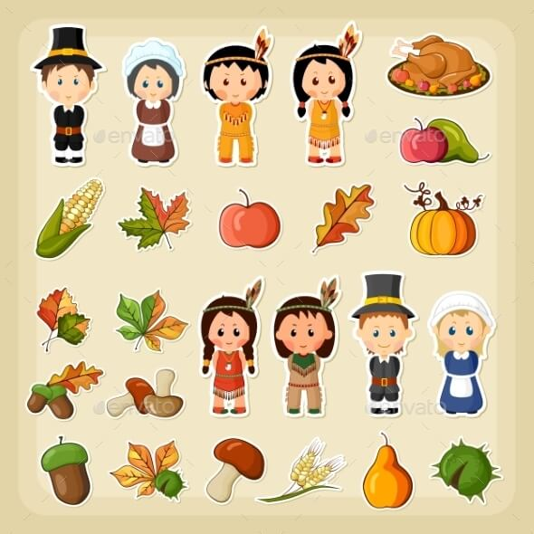thanksgiving-harvest-icon-set