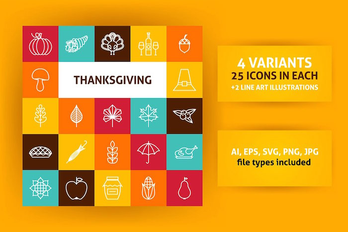thanksgiving-line-icons