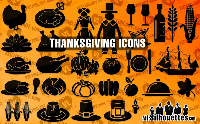 thanksgiving_day_symbols-all-silhouettes