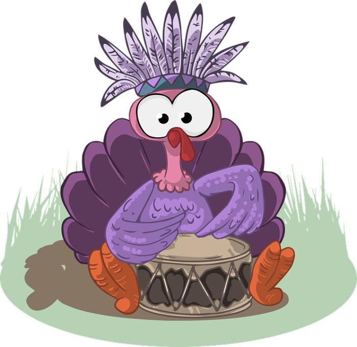 turkey playing drum illustration free
