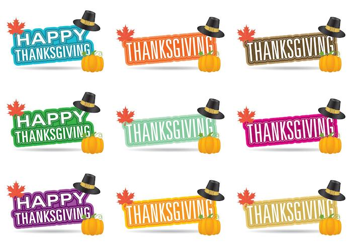 Colorful Thanksgiving Banners