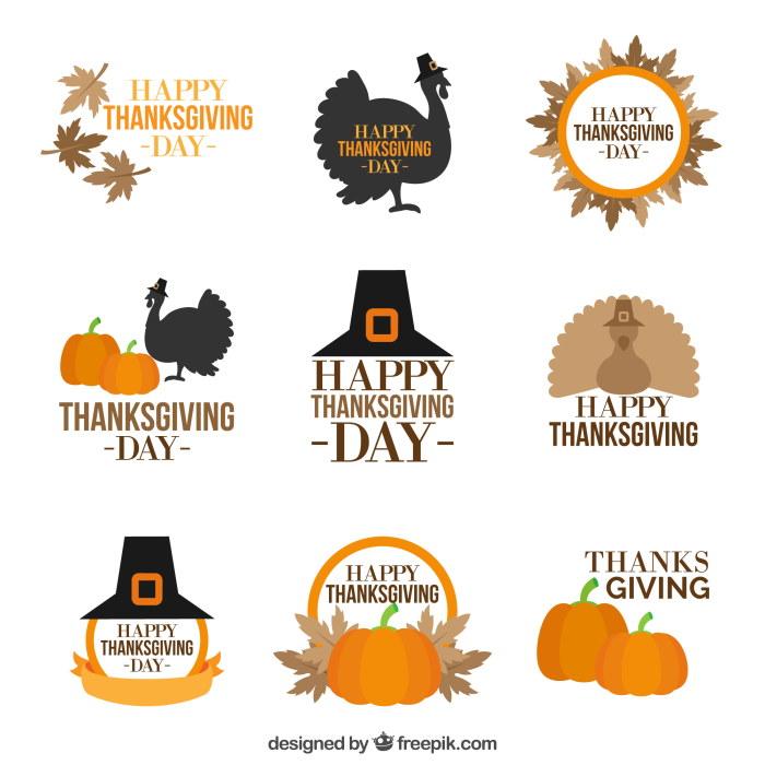 vintage thanksgiving badges free