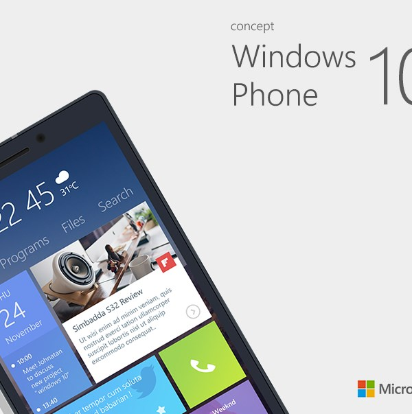 Windows Phone 10 Concept Designs Super Dev Resources