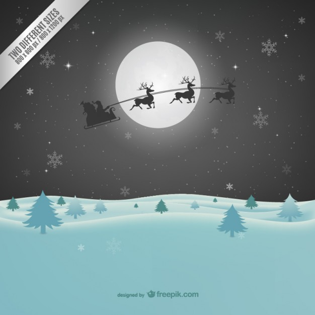11-christmas-background-with-santa-claus-silhouette
