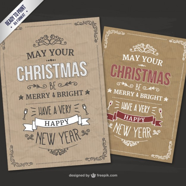 4-cmyk-retro-style-christmas-cards