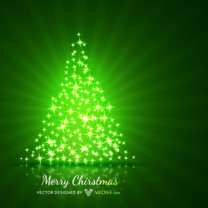 6-green-christmas-tree-free-vector